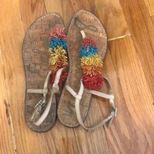 Sam Edelman colorful fringed sandals
